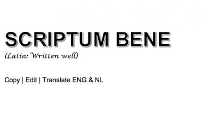 Scriptum Bene